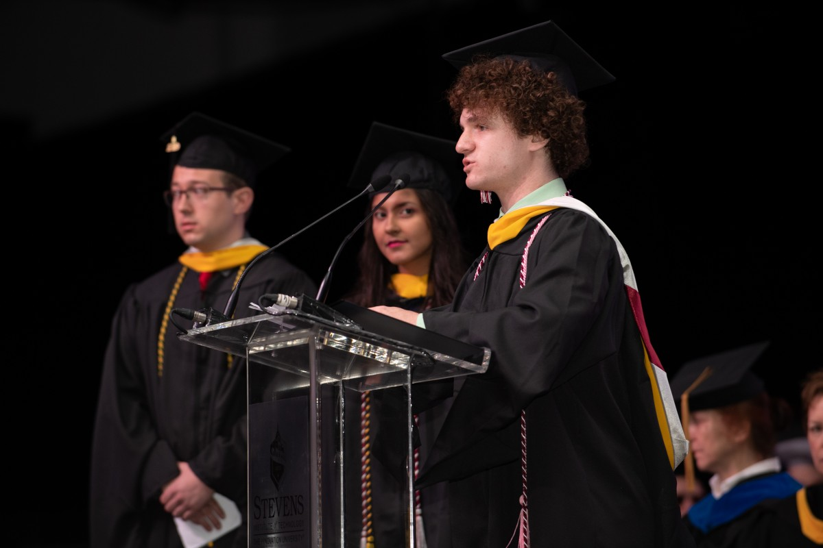 (left to right) 2019 First in Class honorees Matthew McCreesh, Carolina Velasquez and Justin Barish
