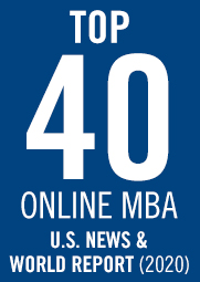 US News ranked the online MBA #40 in the U.S. in 2020.