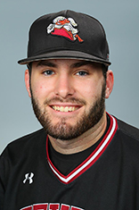 Headshot of Charlie Ruegger in his baseball uniform.