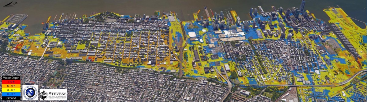 Local coastal mapping of the Hudson River