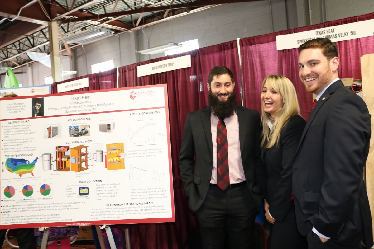 Civil engineering students at the annual Innovation Expo