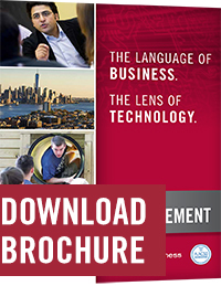 Brochure for master's in Technology Management.