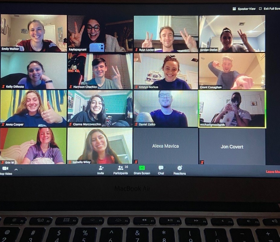 StevensTHON executive board meet over Zoom