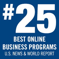 Online non-MBA business programs at Stevens rated #25 by U.S. News & World Report.