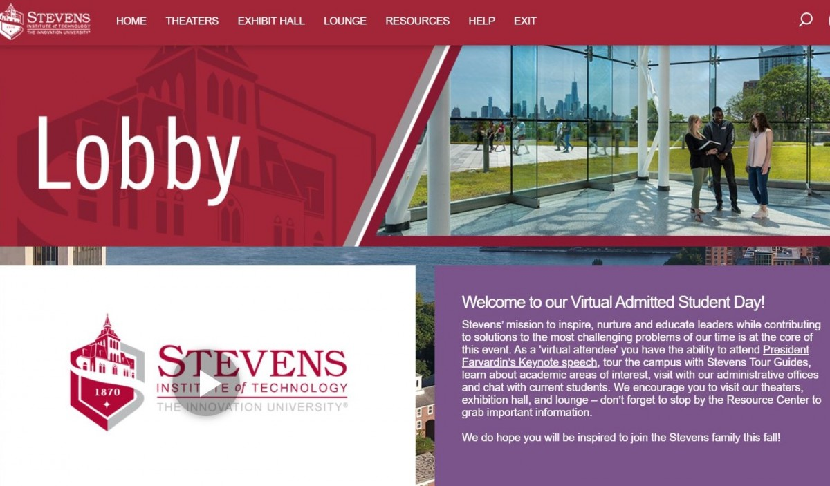 Virtual Admitted Student Day Welcome Page