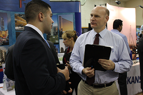 A career fair at Stevens.