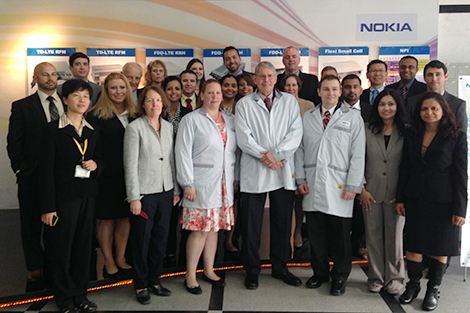 EMBA students took a trip to China, where they visited a variety of worksites, including Nokia's operations.