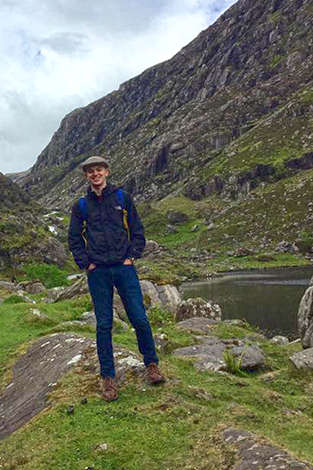 Jimmy Flaherty on a hike through Ireland.