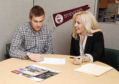 Stevens students get one-on-one support at the center, which provides services ranging from registration to graduation.