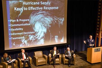 Speakers discuss effective response to Hurricane Sandy at Stevens
