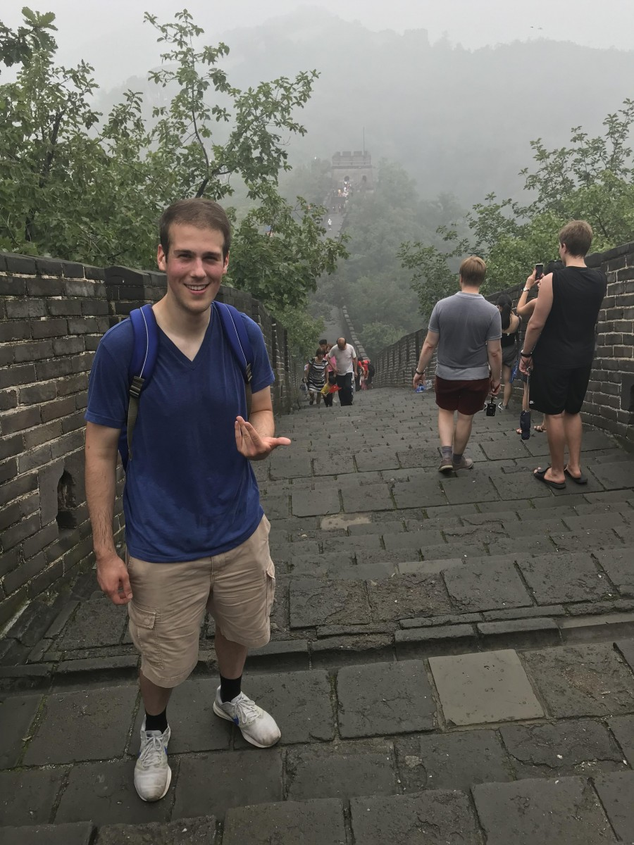 Matthew Falco on the Great Wall of China