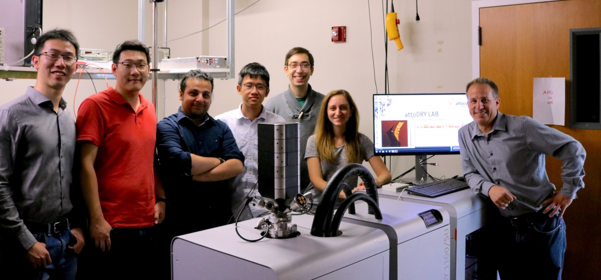 Stefan Strauf with members of the Nanophotonics Lab
