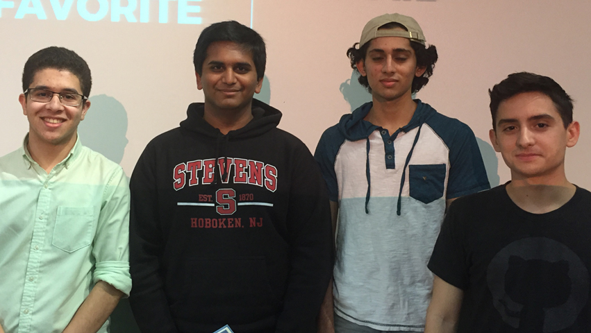 SVC Hackathon students (left to right): Tarik Kdiry, Anand Patel, Dhru Patel and Austin Rocha