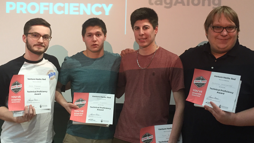 SVC Hackathon students (left to right):Mark Freeman, Justin Trugman, Tyler Bryk and Zachary Hacklander