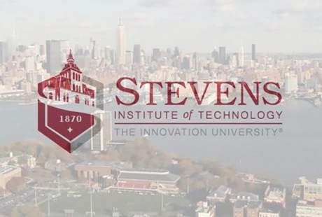photo of Stevens campus with Stevens logo overlay.