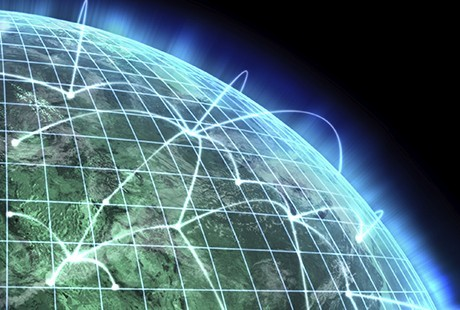 The world, networked and connected.