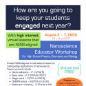 nanoscience workshop flier