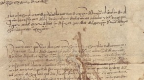 15th-century Spanish documents that will be scanned by Stevens software in a machine-learning research project