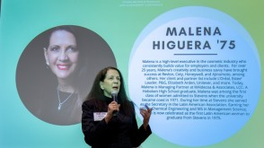 Malena Higuera Speaking at a conference