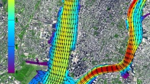 Davidson Lab-generated map of Hudson River and East River flows