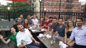 international students mix and mingle at a local restaurant