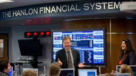 George Calhoun at the Financial Systems Center