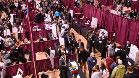 Booths at Stevens Innovation Expo