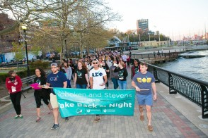 Take Back the Night march along the Hudson Riverfront