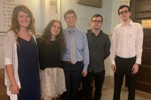 Group of students dressed up for Rosh Hashanah