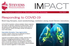cover of Fall 2020 IMPACT newsletter