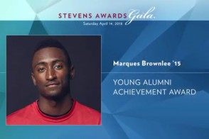 Marques Brownlee '15 receives the Young Alumni Achievement Award
