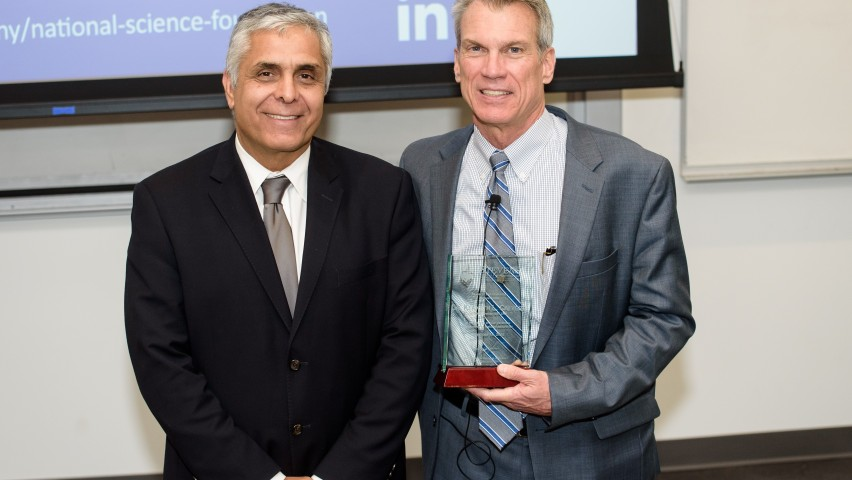 Stevens Vice Provost for Research, Innovation and Entrepreneurship, Dr. Mo Dehghani, with the NSF's Dr. Ken Calvert