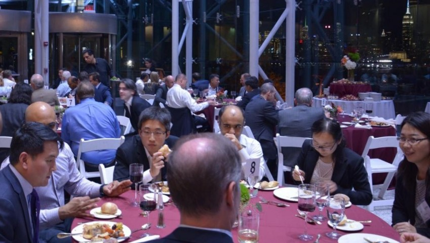 Analytics Innovation Showcase Day Dinner at the Babbio Center Atrium
