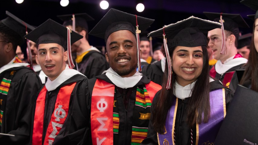 Class of 2019 undergraduates at Stevens' 147th Commencement Ceremony