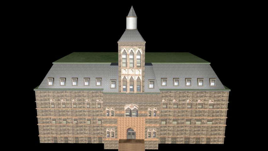 3D model of DeBaun Auditorium