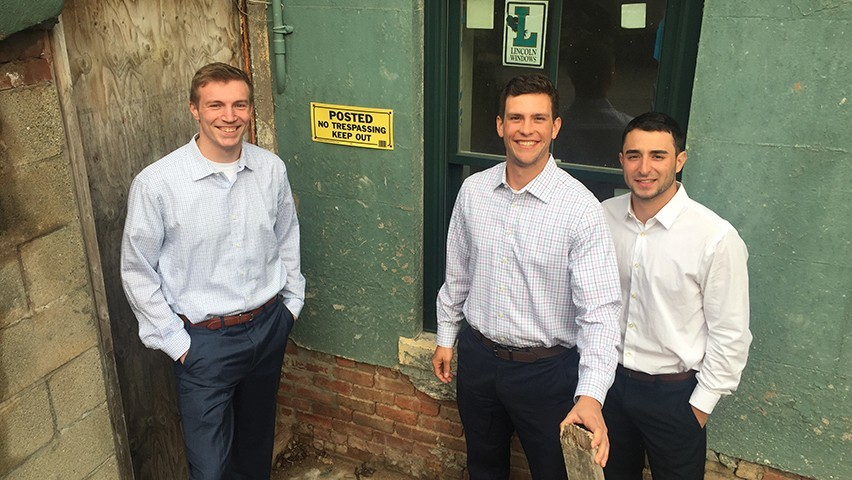The FlipTrack team at a foreclosed home in Hoboken.