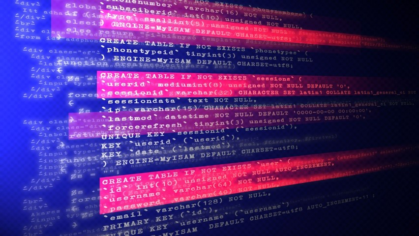 computer code on a screen