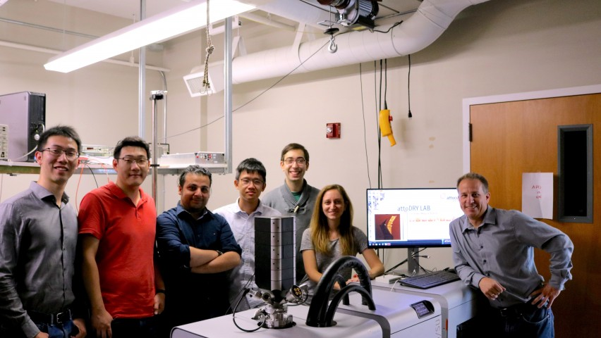 Stefan Strauf and his students in the NanoPhotonics Lab