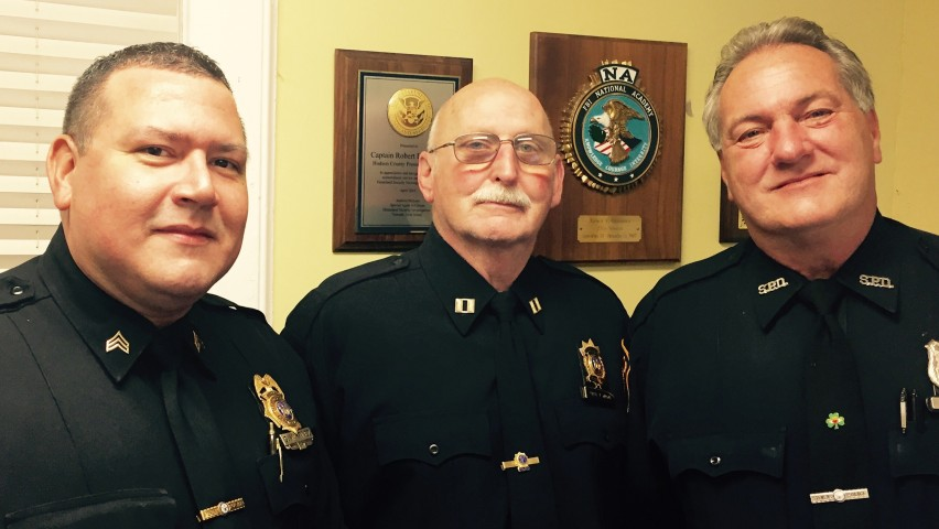 From left to right: Stevens Police Sergeant George Martinez, Captain Thomas Maggi and Officer Tim Legowski