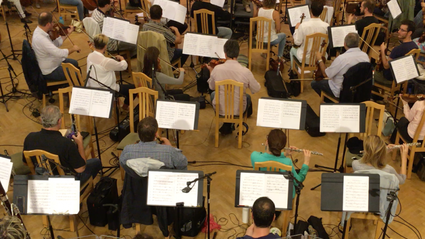 Budapest Film Orchestra playing scores written by Stevens students