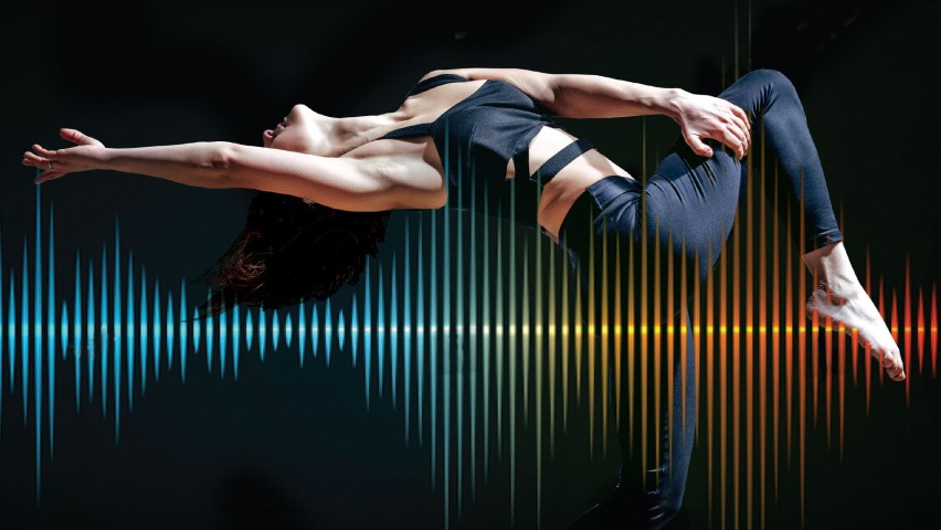Abstract depiction of dancer and sonification