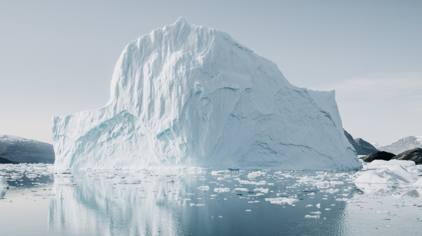 image of a melting iceberg