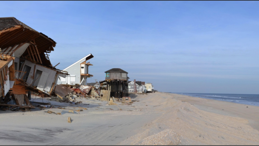 Damage by Hurricane Sandy to property on shorelines