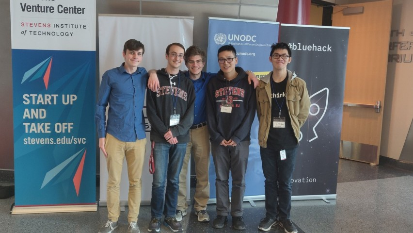 Members of team Argo, winners of the BlueHack against human trafficking.