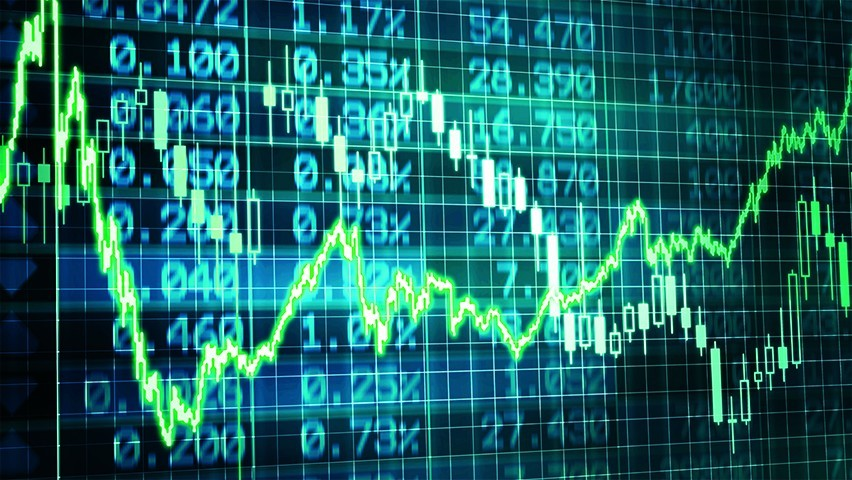 A set of financial data coming through a screen in real time.