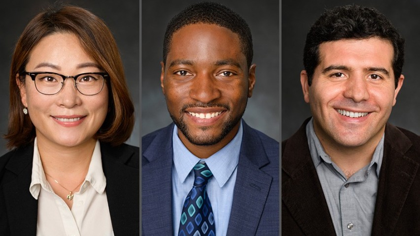 From left to right: New SSE faculty: Dr. Sang Won (Grace) Bae, Dr. Philip Odonkor and Dr. Mehmet Gunes.
