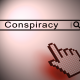 "Cursor clicking a ""conspiracy"" search box"