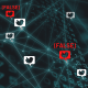 Graphical depiction of Twitter algorithm and fake news