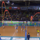 Diagram of volleyball court