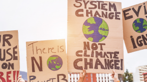 climate change protest signs